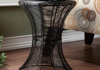 Round Black Metal Accent Table