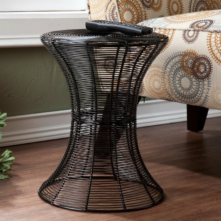 Permalink to Round Black Metal Accent Table