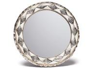 Round Bone Inlay Mirror