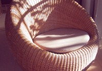 Round Cushion Chair Rattan