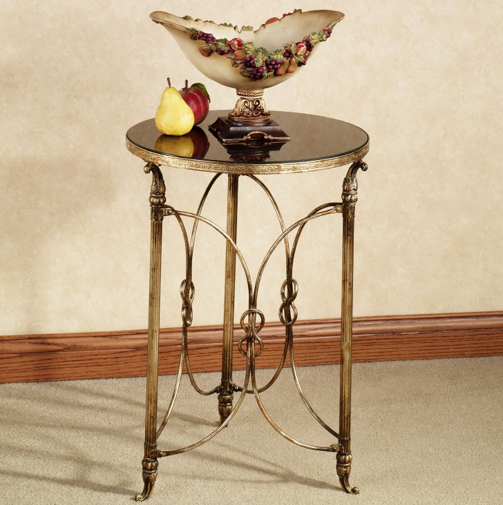 Permalink to Round Gold Accent Table