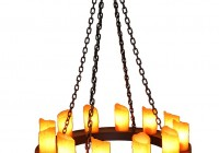Round Iron Chandelier With Candles