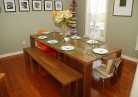 Round Kitchen Table With Bench Seating