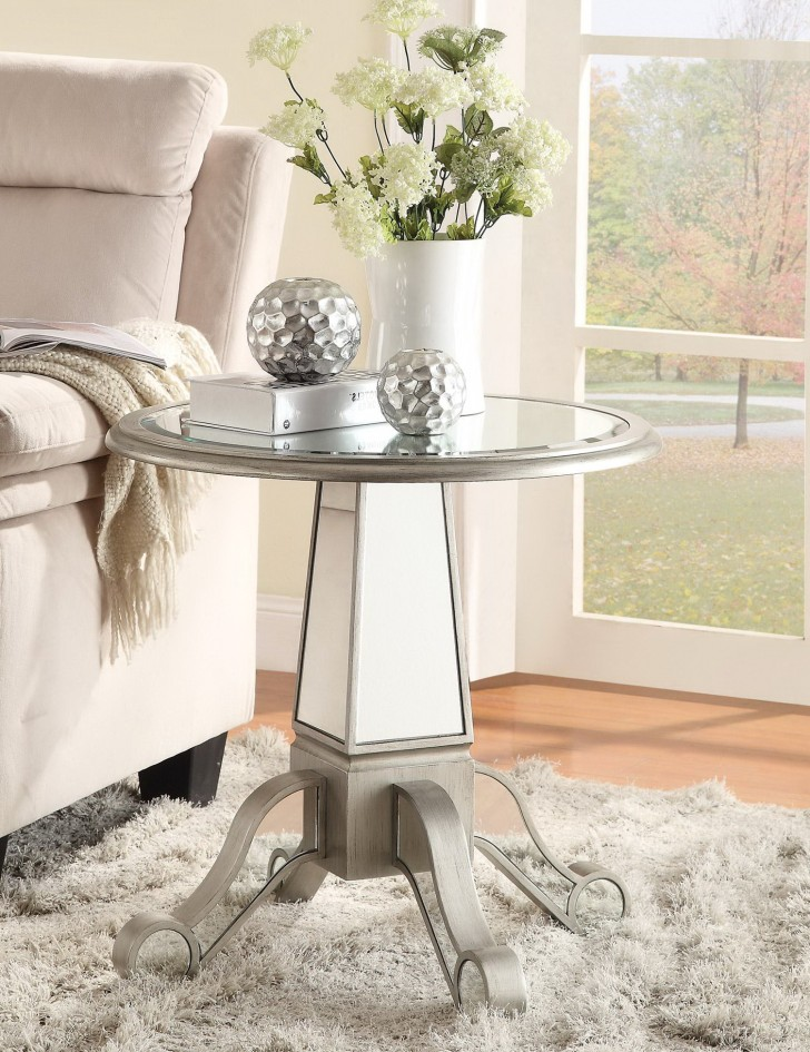 Permalink to Round Mirrored Accent Table