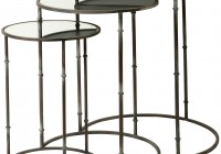 Round Mirrored End Tables
