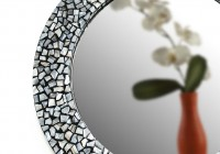 Round Mother Of Pearl Mirror