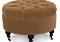 Round Tufted Storage Ottoman
