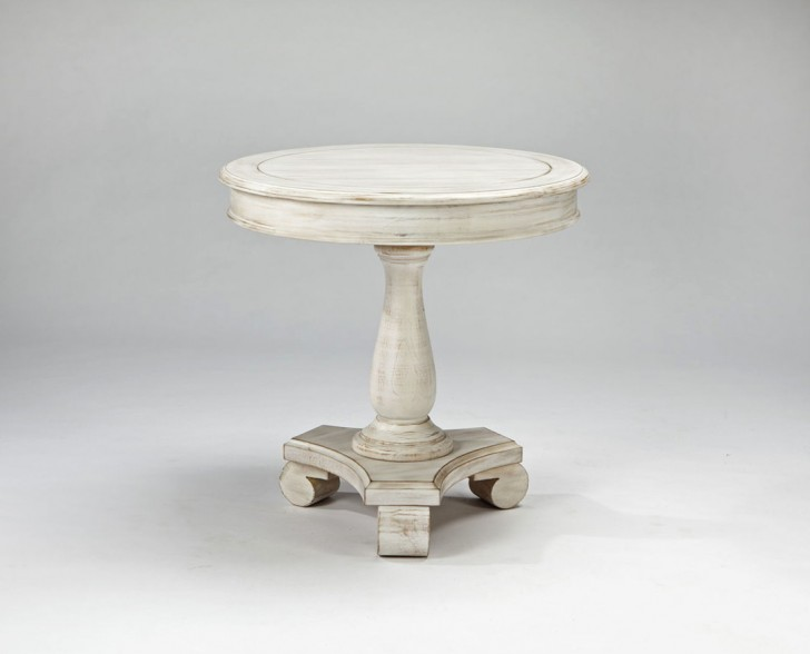 Permalink to Round White Accent Table