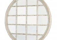 Round Window Pane Mirror
