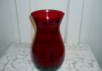 Ruby Red Glass Vase