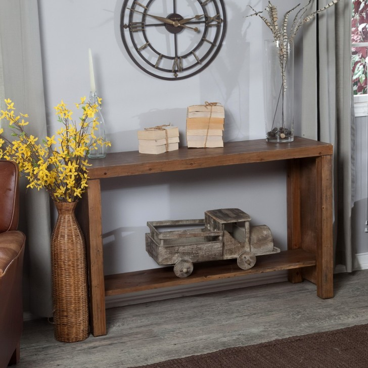 Permalink to Rustic Console Table Decor