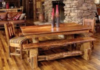 Rustic Dining Set With Bench