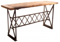 Rustic Industrial Console Table