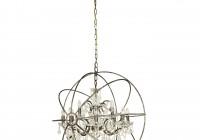 rustic iron orb chandelier