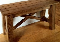 Rustic Wooden Bench Plans