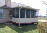 screened in deck cost