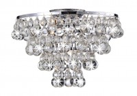 semi flush mount crystal chandelier