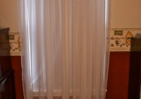 Sheer White Bedroom Curtains