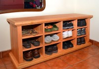 Shoe Cubby Bench Solid Wood