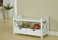Shoe Storage Bench White