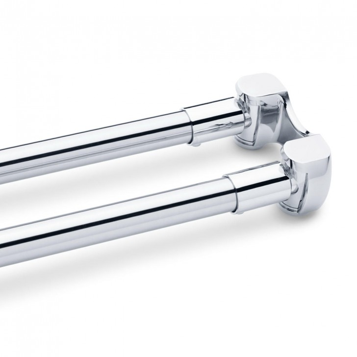 Permalink to Shower Curtain Tension Rod Chrome