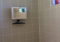Shower Shaving Mirror With Radio
