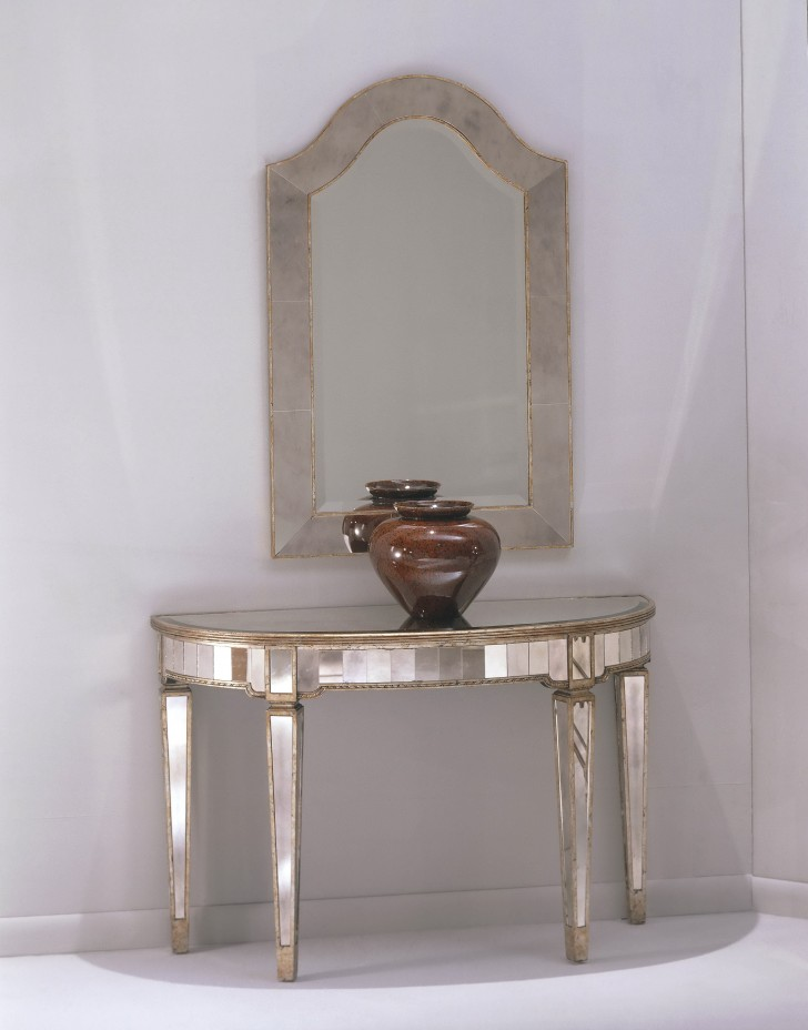 Permalink to Silver Console Table And Mirror