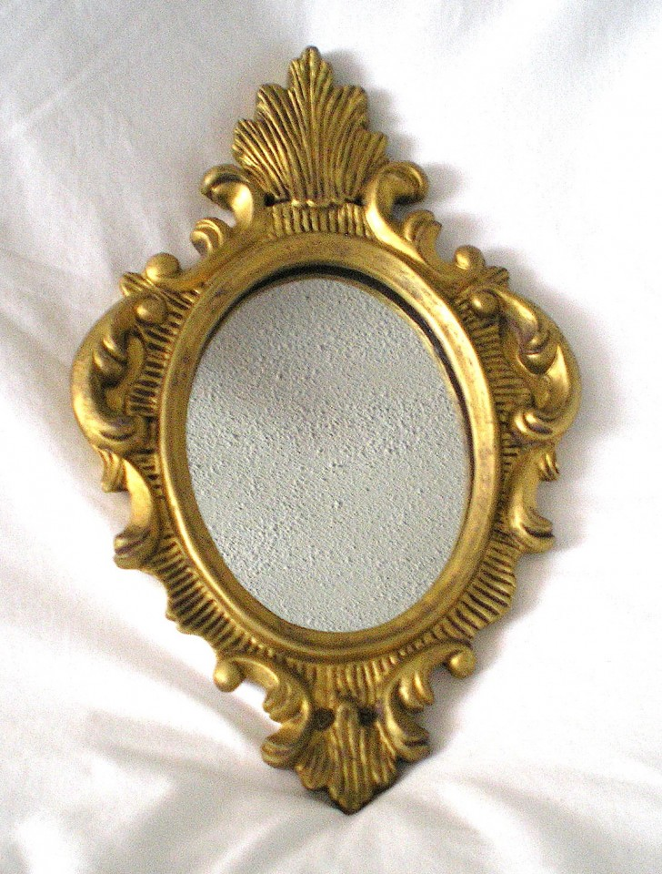 Permalink to Small Gold Wall Mirror