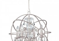 small iron and crystal chandelier