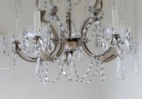 Small Vintage Crystal Chandelier