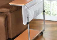 Sofa Side Table Magazine Rack