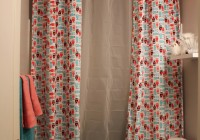 Split Shower Curtain With Valance