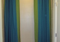 Split Shower Curtains With Valance