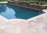 Spray Deck Or Travertine Pavers Pool