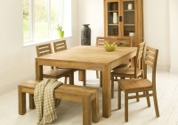 Square Dining Room Table With Bench
