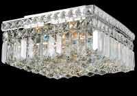 square flush mount crystal chandelier
