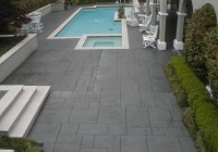 Stamped Concrete Pool Deck Sealer