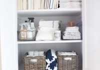 storage ideas for linen closets