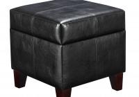Storage Ottoman With Tray Black