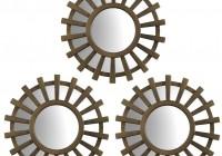 Sunburst Mirror Wall Art Set Of 3