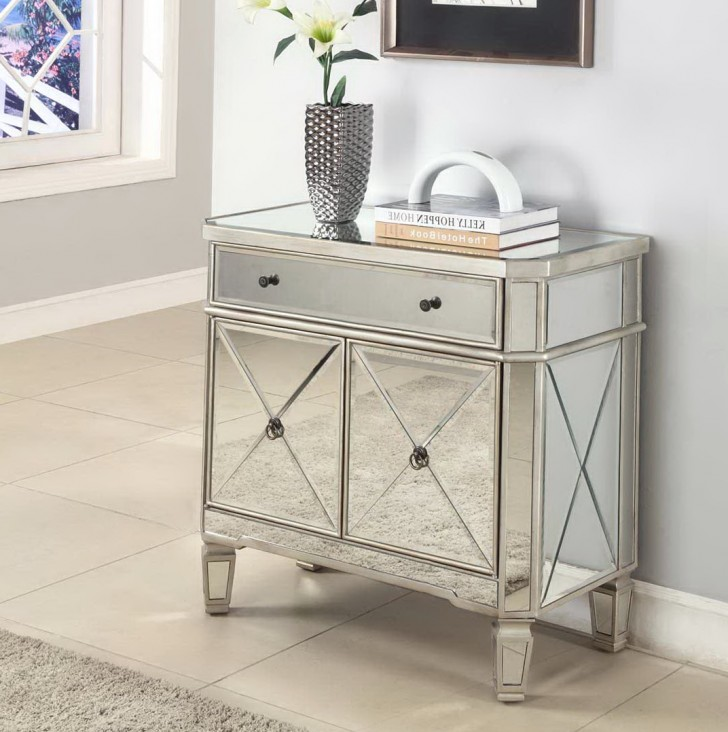 Permalink to Threshold™ Mirrored Accent Table With Drawer