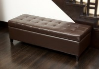 Tufted Leather Storage Bench
