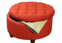 Tufted Round Ottoman With Storage