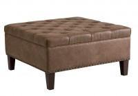 Tufted Square Storage Ottoman