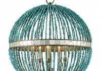 turquoise beaded chandelier light fixture