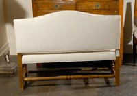 Upholstered Bench With Backrest