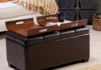 Upholstered Ottoman Coffee Table With Storage
