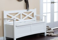 Upholstered Storage Bench With Back