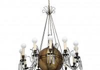 Vintage Brass Crystal Chandelier