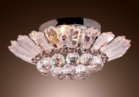vintage flush mount crystal chandelier